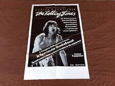 1973 Ladies & Gentlemen The Rolling Stones Original Movie House Poster