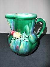 Pretty Green Austrian Jug Vase Please read description