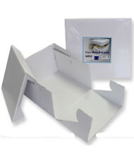PME White 14'' Square Folding Cardboard Cake Baking Box Container Lift Off Lid