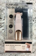 Finishing Touch Flawless NU Razor Legs Electric Hair Remover - Gold - New