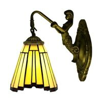 Tiffany Stained Glass Wall Mount Light Sconce Lamp Shade Beside Decor Fixture