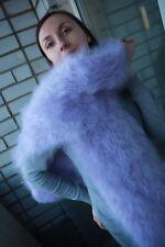 Premium Longhair Mohair Scarf hand knitting Purple Jane Rodas