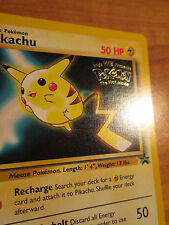 NM Pokemon PIKACHU Card BLACK STAR PROMO Set #4 Movie Release WB Stamped WOTC