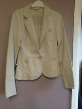 River Island Stone Twill Fitted Jacket Size 8