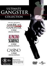ULTIMATE GANGSTER COLLECTION American Gangster, Scarface, Casino (6 DVD Set) NEW