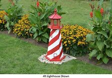 Amish-Made Replica White Shoal, Mi Lighthouse with Lighting - In 13 Sizes!