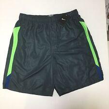 Nike Men's Board Shorts Swim Trunks Grey Lime Green Pockets Lined Sz L *NWT $58