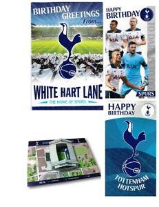 Official TOTTENHAM HOTSPUR Football Happy Birthday Card Crest Footie Boys Spurs
