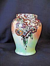 """ROYAL WINTON GRIMWADES Rare c 1934/50 BYZANTA Small Vase 4 3/4"""" tall VERY NICE"""