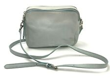 FOSSIL $128 Pebbled Leather Zip Around Square Crossbody Shoulder Bag Purse