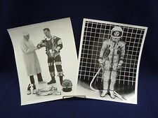 #AX NASA Vintage 1963 8x10 B&W Press Photo Apollo Prototype Space Suit Astronaut