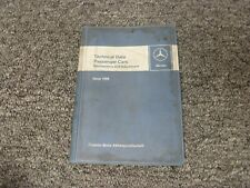 1967-1969 mercedes benz 230s 250s maintenance data specification manual 1968