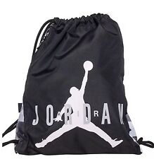NIKE AIR JORDAN AJ7 GYM SACK WORKOUT SCHOOL BACKPACK BLACK GREY WHITE ONE SIZE