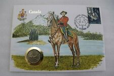 CANADA 25 CENTS 1974 MOUNTED POLICA COIN COVER B28 BRIE31
