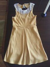 Mustard Yellow Crochet Collar Free People Dress XS