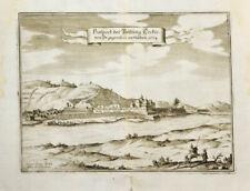 c1665 Tokaj Ungarn Kupferstich-Ansicht Merian