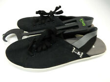 Sanuk Womens Sidewalk Surfers Maisie Sling Black Size 7