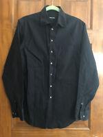 Giorgio Armani Black Label Borgo 21 Men's Solid Dress Shirt, 39 15-1/2