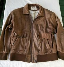 Vintage G-111 Brown Leather Bomber Jacket Global Identity Men's Large