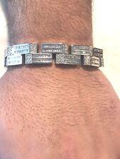 7.11 Ct. Baguette Diamond men Bracelet 14kt Solid White Gold 81.4 Grams