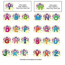 Personalized Address Labels Balloons Behind Letter Buy 3 get 1 free (bl1)