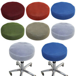 1/2/4PCS Round Stool Cover Home Seat Slip On Protector Bar Stool Slipcover Cloth