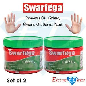 2 x Swarfega Original Classic 275ml Advanced Hand Gel Oil/Grease Remover