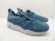 Puma Men's Trinomic Blaze of Glory Soft Trainers Shoes Blue White Size 12M