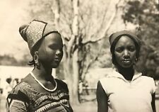 Cameroun  Rhumsiki Afrique jeunes femmes  Kapsiki CIRCA 1950 argentique CAMEROON