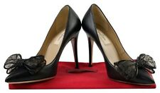 Valentino Leather Lace Bow Black Pumps Size: 6.5  Regular (M, B)