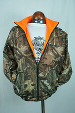Winchester Reversible Waterproof Rain Jacket XLarge Camo Mossy Oak Blaze Orange