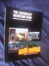 1969 Chevy Chevrolet Impala SS Caprice Corvair Malibu Brochure Catalog Prospekt