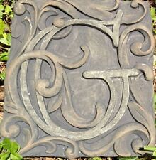 G Stone, plaque, stepping stone,  plastic mold, concrete mold, cement, plaster