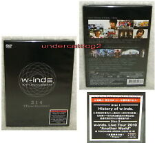 Japan w-inds 10th Anniversary 314 Taiwan 2-DVD+Postcard
