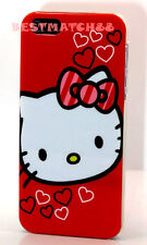 for iphone 5 5s hello kitty red white w/ bow & heart hard case +screen protector