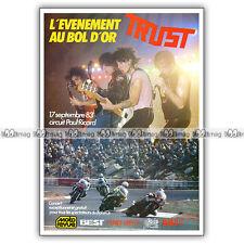 PUB TRUST au Circuit Paul Ricard - Original Advert / Publicité Concert 1983