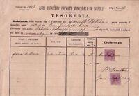 NAPOLI - ASILI INFANTILI - RARO DOCUMENTO CON MARCHE DA BOLLO - 1903