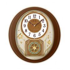 "Seiko Clock -  ""Melodies in Motion'' Musical Wall Clock QXM553BRH"