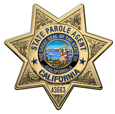 California State Parole Badge all Metal Sign with your info