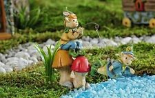 Miniature Garden Enchanted Forest Fishing Swimming Gnomes GI 706460 Faerie Fairy