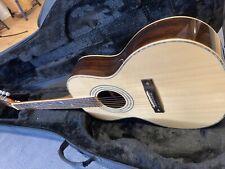 Erbstück: Parlor Westerngitarre mit Perlmutt in Massiv-Holz