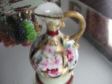 INCREDIBLE ANTIQUE HAND PAINTED GILT NIPPON EWER