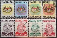 Malaysia Used Revenue Stamps - 8 pcs 10 cents to $250 Stamp (Big Size)