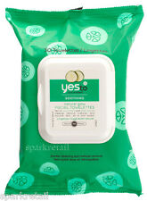 Yes To Cucumbers Organic Soothing Hypoallergenic Facial Wipes Face Cloths x 30