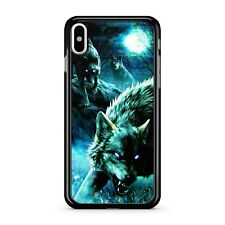 Angry Furious Water Painted Sabre Toothed Wolves Gloomy Sky 2D Phone Case Cover