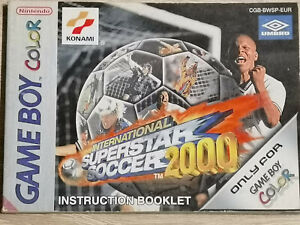 International Superstar Soccer 2000 Iss Gameboy Color Manual Only Manual
