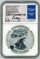 2006 P $1 1 OZ Reverse Proof Silver Eagle PF70 NGC 20th Anniversary Ed Moy