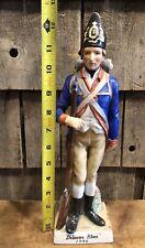 Vintage Revolutionary War Soldier Delaware Blues Andrea By Sadek Figurine 12�