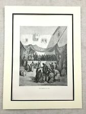 Antique Engraving Print Marriage at Cana Jesus Christ Miracle Gospel of John