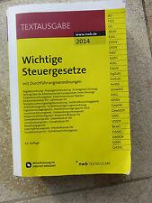 Buch Wichtige Steuergesetze Ausgabe 2014 63. Auflage ISBN 3482604553 Steuerrecht